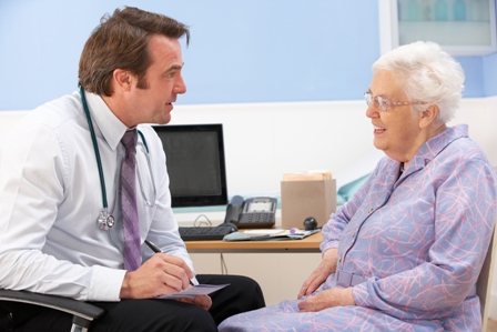 GP with older female patient