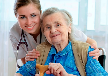 Nurse with older lady