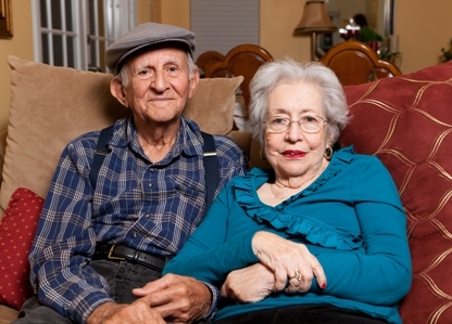 Older man and wife